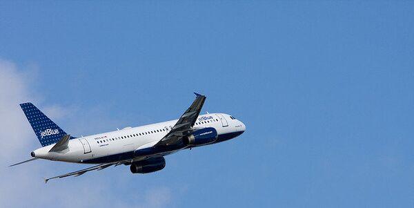 Airbus A320 компании JetBlue. Архивное фото