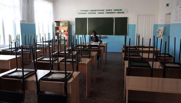 Учебный класс в средней школе в Приморье