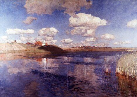 Картина Исаака Левитана Озеро. 1900 год.