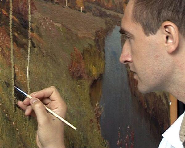 Реставраторы Третьяковки докрашивают картины Исаака Левитана