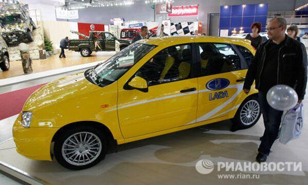 Автомобиль Lada Kalina Sport на Московском автосалоне