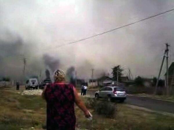 Пожар на хуторе Александровка Волгоградской области