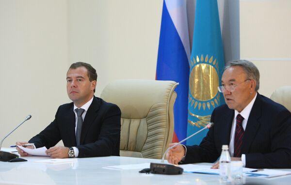 Дмитрий Медведев и Нурсултан Назарбаев приняли участие в работе VII Форума межрегионального сотрудничества России и Казахстана