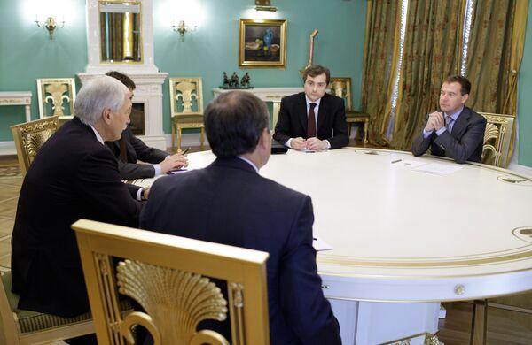 Встреча Дмитрия Медведева с руководством партии Единая Россия