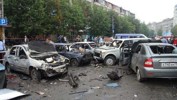 Взрыв возле центрального рынка во Владикавказе. Архив