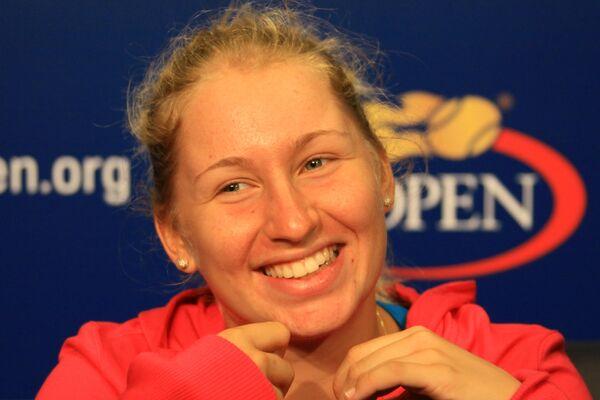 Российская теннисистка Дарья Гаврилова, победительница US Open 2010 среди юниоров