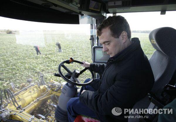 Президент России Дмитрий Медведев в Орловской области