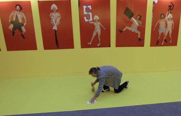 На выставке номинантов Премии Кандинского 2010