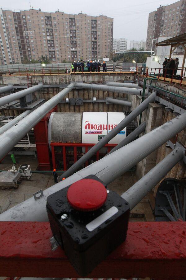 Начало строительства станции метро Новокосино