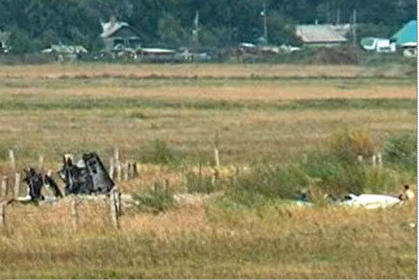 Стоп кадр из видео с места аварии истребителя Су-27