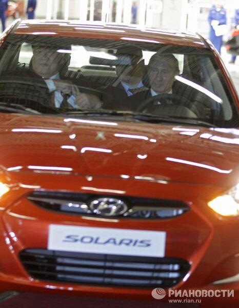 Владимир Путин на открытии завода Hyundai Motor в Санкт-Петербурге