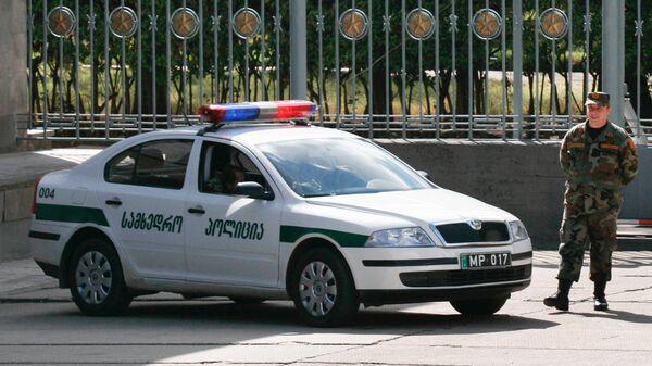 Сотрудник патрульной полиции МВД Грузии