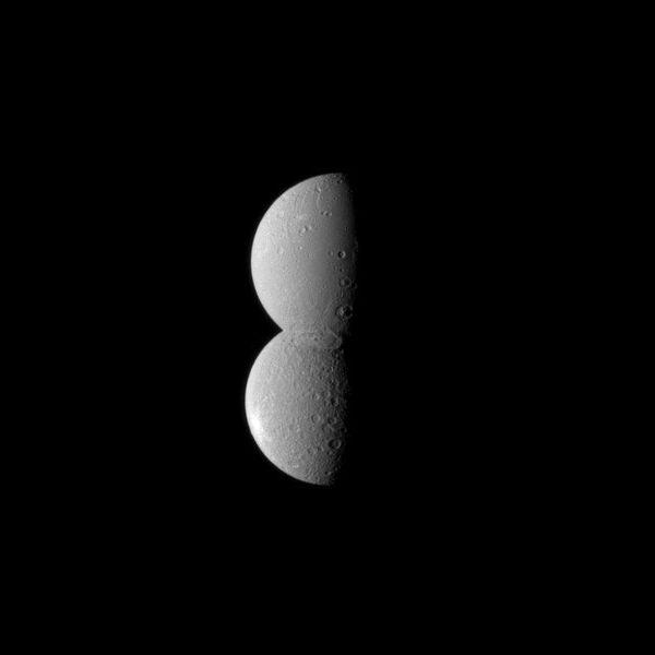 Восьмерка из спутников Сатурна