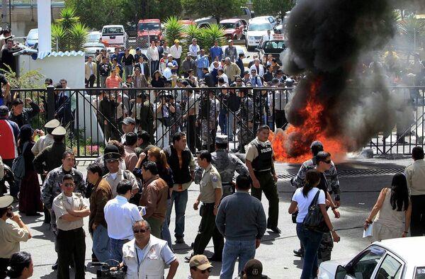 Беспорядки в столице Эквадора