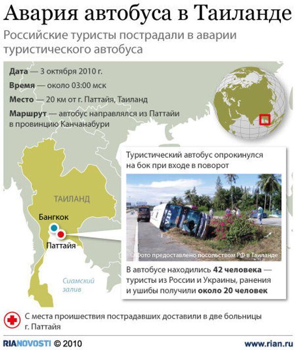 Авария автобуса в Таиланде