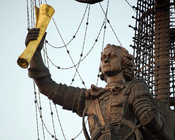 Памятник Петру I в Москве. Архив