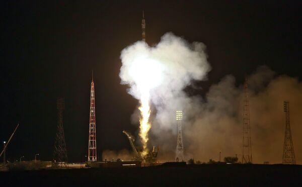 Состоялся запуск космического корабля Союз ТМА-М с российско- американским экипажем на борту