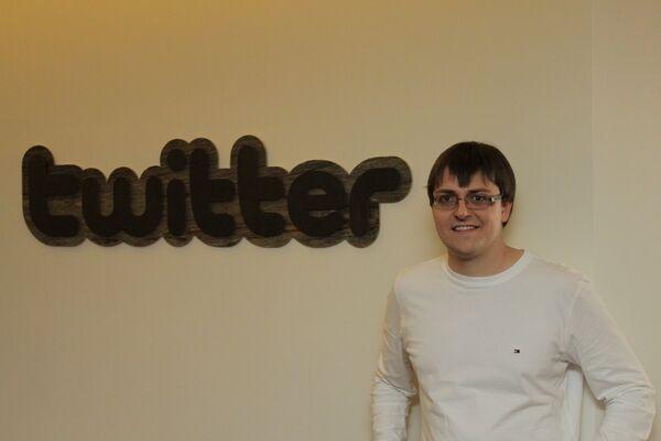 Российский блогер Евгений Козлов в американском офисе Twitter