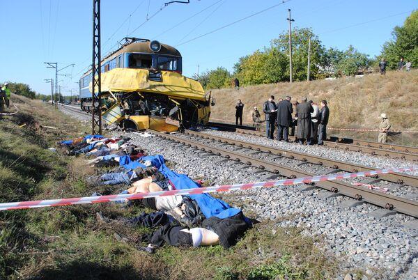 Число погибших в аварии в Днепропетровской области увеличилось до 40 человек