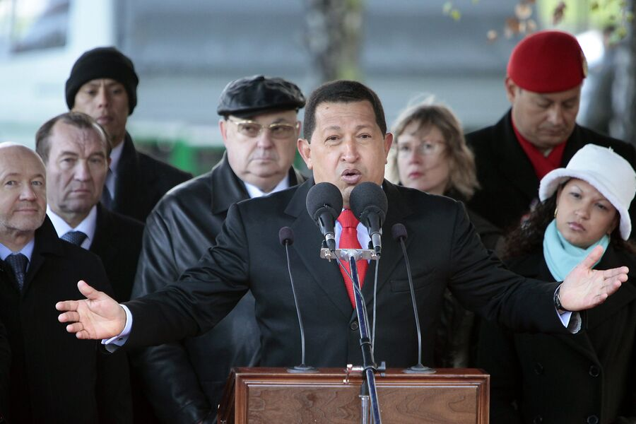 Открытие закладного камня памятника Симону Боливару