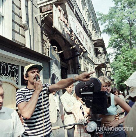 Никита Михалков на съемках фильма Раба любви