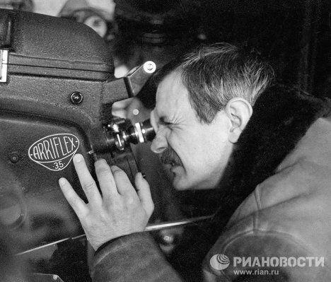 Михалков на съемках фильма Несколько дней из жизни Обломова
