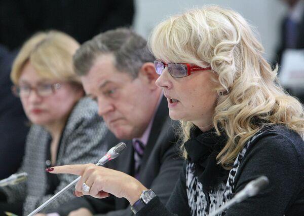 Министр здравоохранения и социального развития РФ Татьяна Голикова на совещании по вопросам обеспечения лекарствами пожилых граждан-льготников