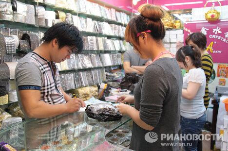 КНР, город Иу, крпунейший в мире торговый центр товаров широкого потребления