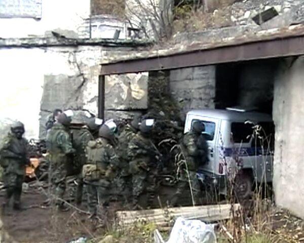 Спецназ ведет поиск боевиков в заброшенной шахте в Кабардино-Балкарии