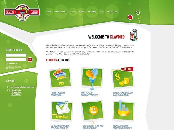 Скриншот главной страницы сайта glavmed.com