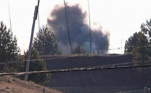 Пожар на складе боеприпасов в Амурской области