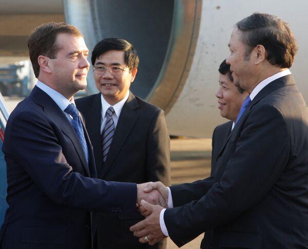 Дмитрий Медведев прибыл в Ханой на саммит АСЕАН