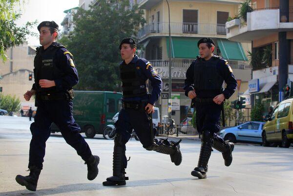 Полиция Греции возле резиденции президента в Афинах
