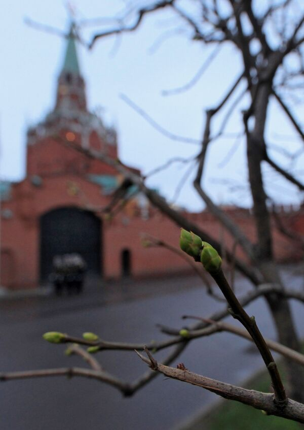 Аномальное тепло в Москве. Архив