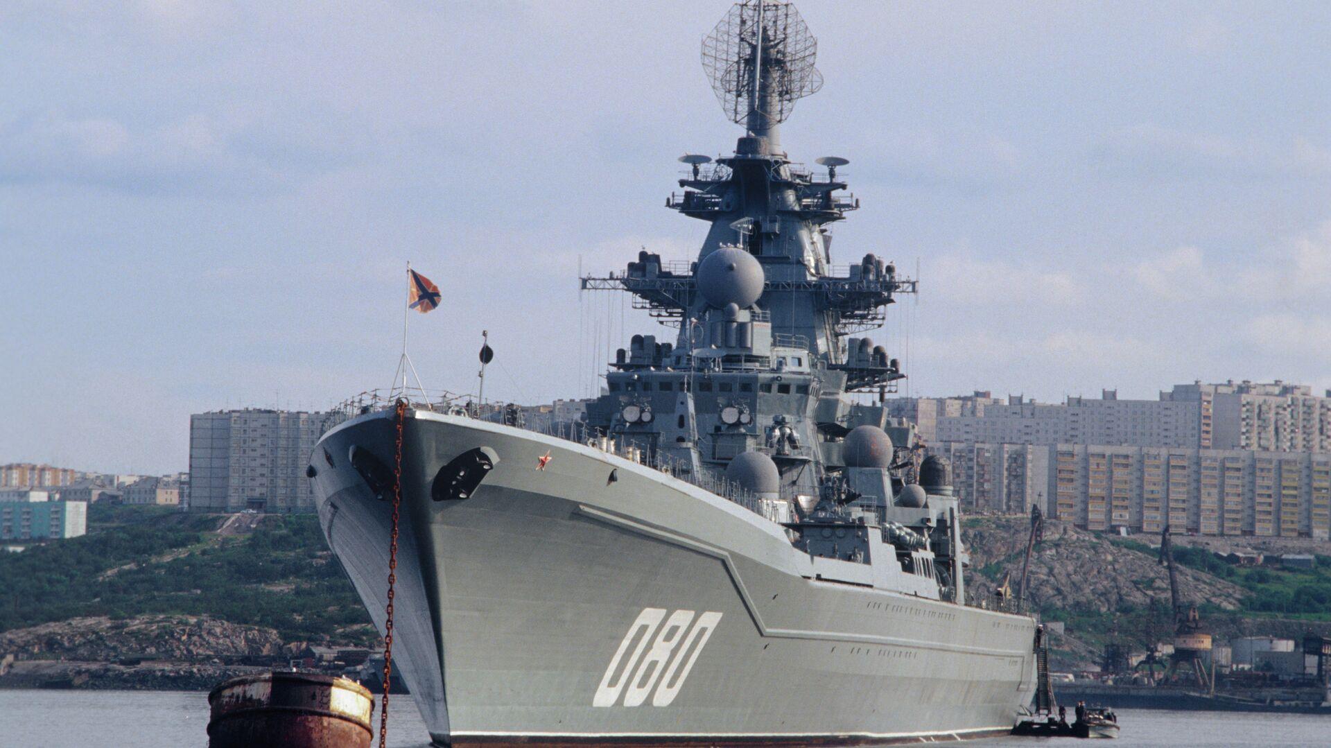 Тяжёлый атомный ракетный крейсер Адмирал Нахимов - РИА Новости, 1920, 21.08.2020