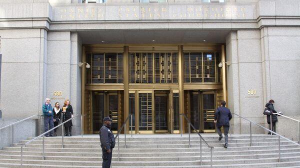 Вход в здание федерального суда Южного округа Нью-Йорка