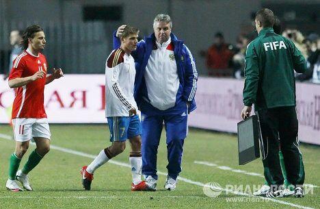 Игровой момент матча Венгрия - Россия