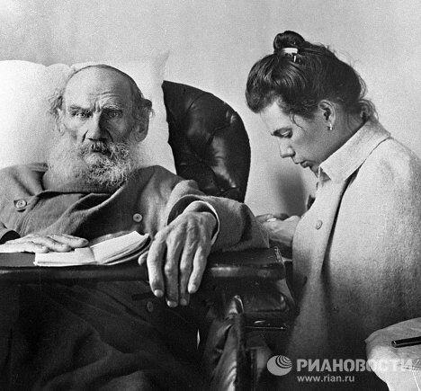 Лев Толстой с дочерью Татьяной