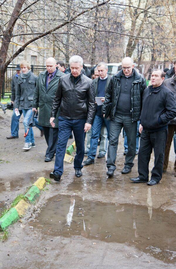 Мэр Москвы Сергей Собянин посетил несколько дворов района Северного административного округа. Архив