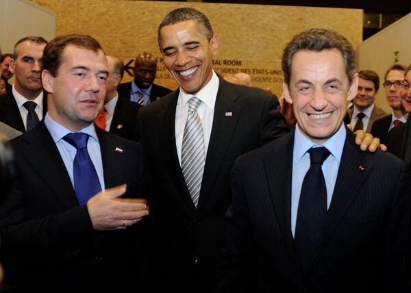 Дмитрий Медведев и Барак Обама на саммите Россия - НАТО в Лиссабоне