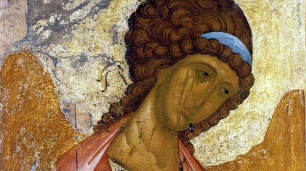 Икона Архангел Михаил (из деисусного чина). Иконописец Андрей Рублев. Первая четверть XV века