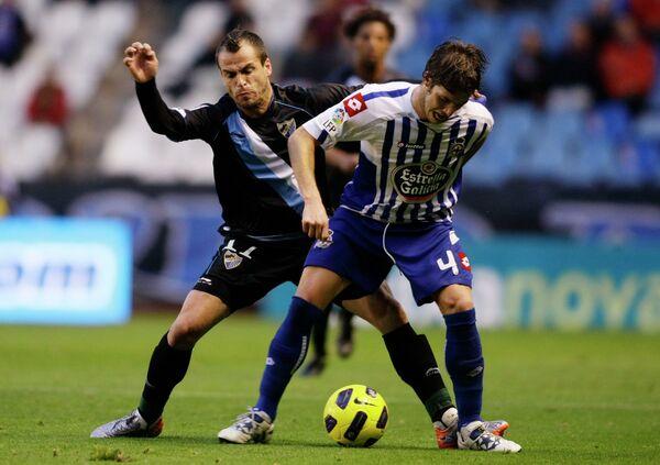 Игровой момент матча Депортиво - Малага