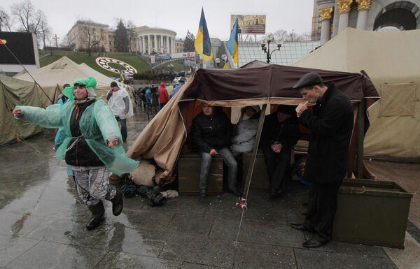 Массовый протест на площади Независимости в Киеве. Архив