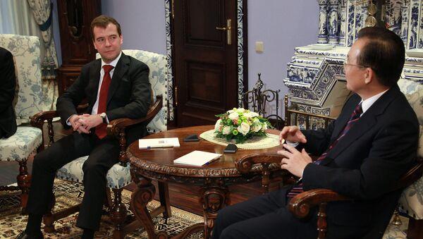 Д.Медведев и В.Цзябао. Архив