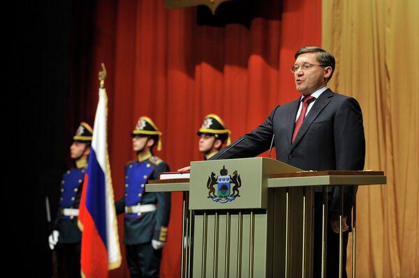 Церемония вступления в должность главы Тюменской области Владимира Якушева