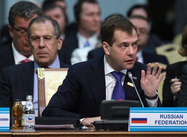 Дмитрий Медведев на саммите ОБСЕ в Астане