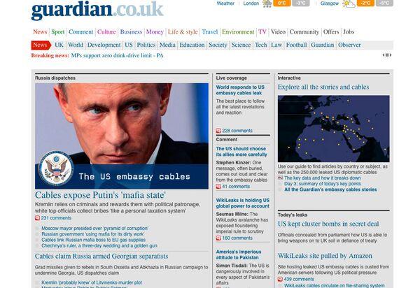 Скриншот страницы сайта www.guardian.co.uk