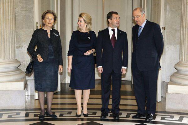 Беседа президента РФ Дмитрия Медведева с королем бельгийцев Альбретом II