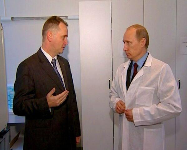 Путину показали лабораторию, где разрабатывают вакцину от ВИЧ