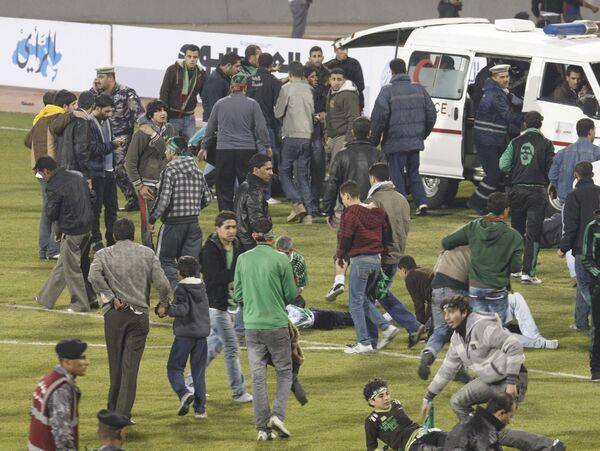 Давка на стадионе в Иордании